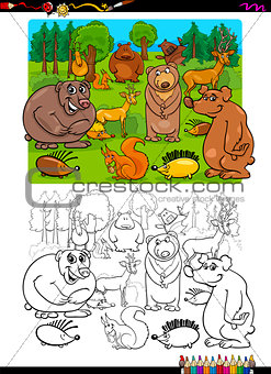 animals group coloring page