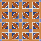 Seamless geometric pattern. Brown