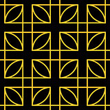 Seamless geometric pattern. Gold