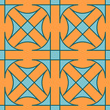 Seamless geometric pattern. Stained glass