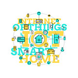 Smart Home And Internet Of Things Line Art
