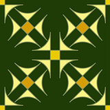 Seamless geometric ornament. Color