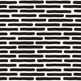 Vector Seamless Black And White Hand Drawn Horizontal Lines Pattern