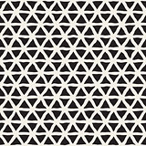 Vector Seamless Hand Drawn Triangle Lines Grid Pattern