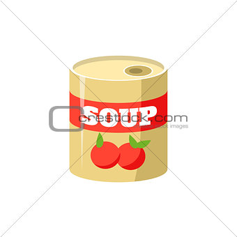 Tomato Soup In Can Simplified Icon