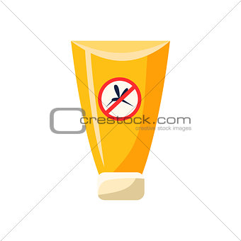 Anti Mosquito Cream In Plastic Tube Simplified Icon