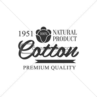 Cotton Black And White Product Logo Design