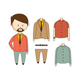 MAn With Beard Wardrobe Set