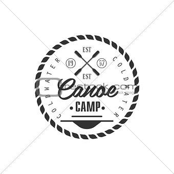Canoe Camp Emblem Design