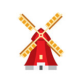 Holandaise Windmill Simplified Icon