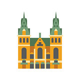 Holandaise City Hall Building Simplified Icon