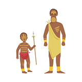 Man And Boy From African Native Tribe