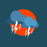 Strong Lightning Storm Natural Force Sticker