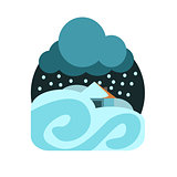 Heavy Snowstorm Natural Force Sticker