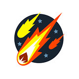 Falling Asteroids Natural Force Sticker