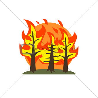Forest Fire Natural Force Sticker