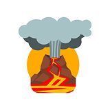 Volcano Eruption Natural Force Sticker