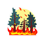 Blazing Forest Natural Force Sticker