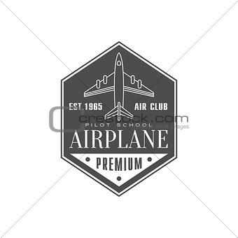 Airplane Air Club Emblem Design
