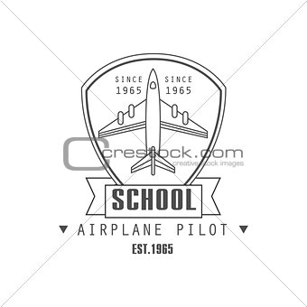 Airplane Pilot School Emblem Design