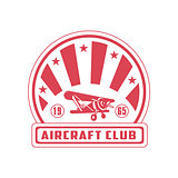 Aircraft Club Red Emblem Design