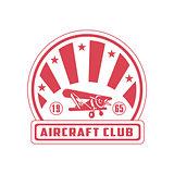 Aircraft Club Red Emblem Design