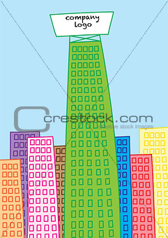 skyscraper building of business giant