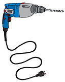 Blue electric impact drill