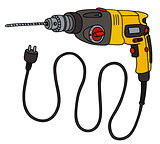 Yellow electric impact drill