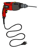 Red electric impact drill
