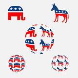 USA political parties symbols