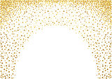 Gold Painted Dots Background