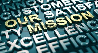 Corporate Communication Concept, Our Mission.