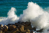 Wave Splashing - Liguria Italy
