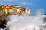 Sea Storm in Tellaro - Liguria Italy
