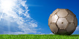 Football - Soccer Ball with Green Grass