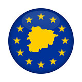 Andorra map European Union flag button