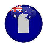 Australia Northern territory map button