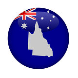 Australia state of Queensland map button