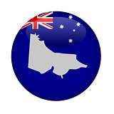 Australia state of Victoria map button