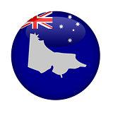 Australia state of Victoria map button