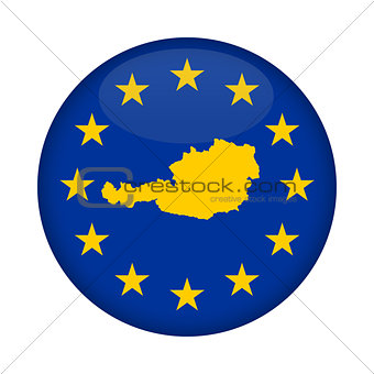 Austria map European Union flag button