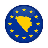 Bosnia and Herzegovina map European Union flag button