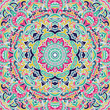 colorful abstract doodle mandala pattern