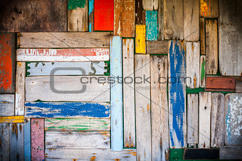 Abstract wood wall background with vignetting