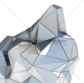 Abstract metal architectural pattern on white