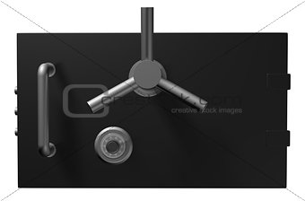 Black safe door. 3D Illustration