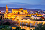 Cordoba Mosque-Cathedral at Night