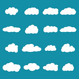 Set of clouds, vector illustration.
