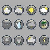weather blue gray icons